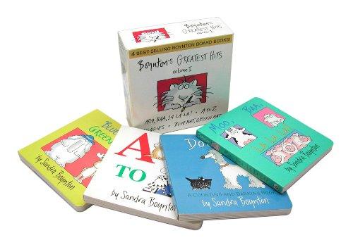 Boynton's Greatest Hits Volume 1: Blue Hat, Green Hat; A to Z; Moo, Baa, La La La!; Doggies (Boynton Board Books) by Little Simon (Image #2)