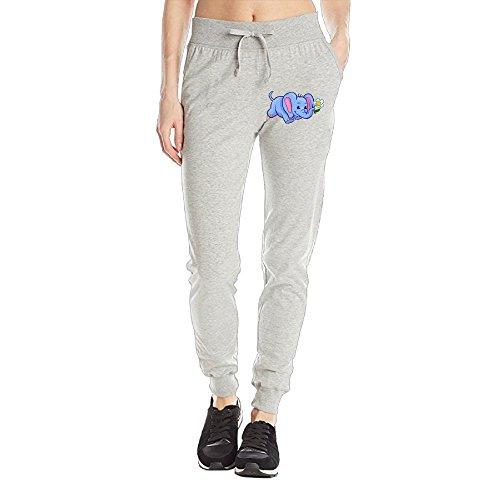 Losport Women's Happy Elephant Cotton Joggers Pants Slim Fit Bottoms Fleece Pant With Pockets M Ash