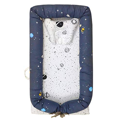 Cheapest Price! Abreeze Baby Bassinet for Bed -Forest Baby Lounger – Breathable & Hypoallergenic Co-Sleeping Baby Bed – 100% Cotton Portable Crib for Bedroom/Travel 0-24 Months