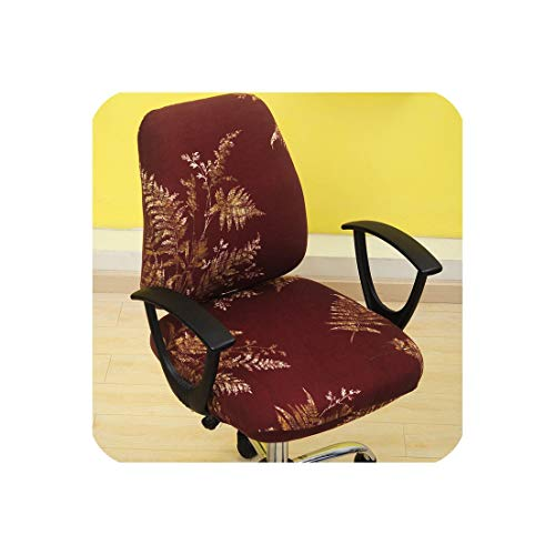 Modern 2pcs/Set Elastic Office Computer Chair Cover Armchair Back Seat Cover Stretch Rotating Lift Seat Case Cover Without Chair,jinzhiyuye,Universal ()