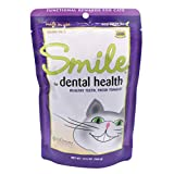 In Clover Smile Daily Dental Health Soft Chews for Cats, Support Healthy Teeth and Fresh Tongue with Bactericides Catnip and Green Tea, Prebiotics, and Chlorophyll for Fresh Breath, 10.5 oz