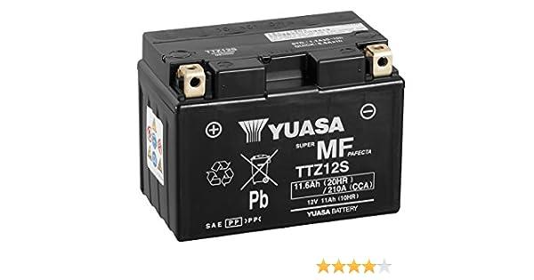 YUASA BATERIA TTZ12S-BS AGM abierto - con paquete de ácido