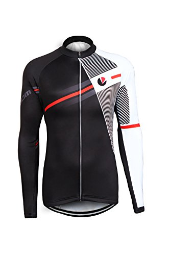 PANDOOM Outdoor Sports Men's Windproof Long Sleeves Winter Fleece Thermal Cycling Bicycle Jersey Jacket Size 2XL (Livestrong Cycling compare prices)