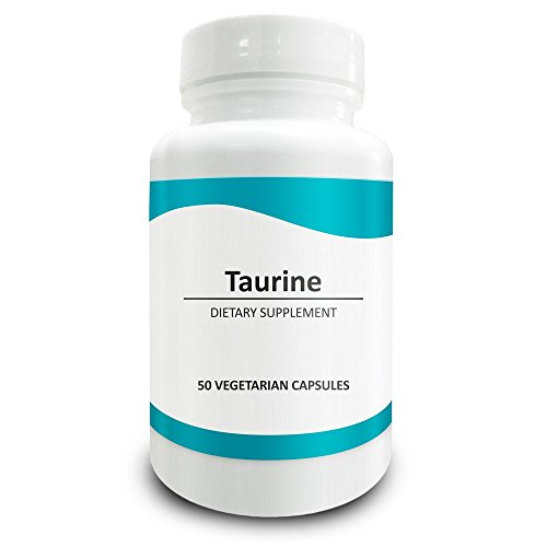 Pure Science Taurine 1000mg -Taurine Supplement Improves Cardiovascular Health, Regulates Blood Sugar Level & Mood - 50 Vegetarian Capsules of Taurine Powder