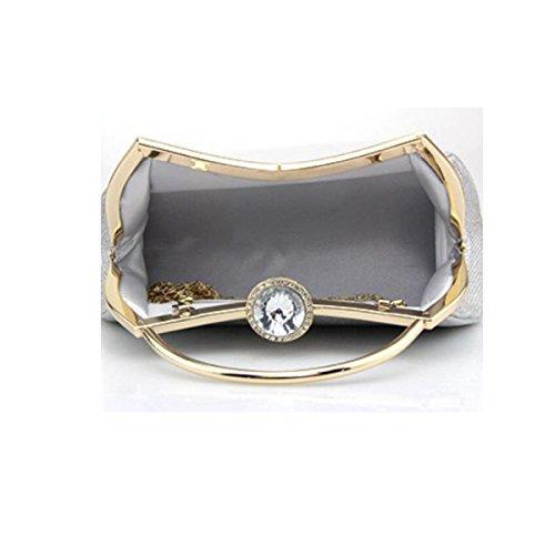 Soirée Sac D'honneur Solide Pack Chaîne D'habillement De Boucle Mariée Portable Dames Diamant silver Demoiselle 1AURPUq