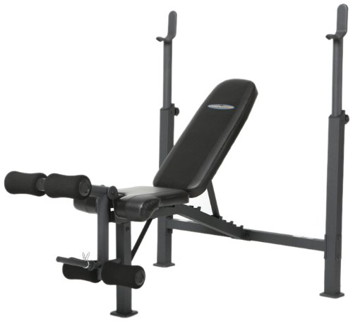Marcy Competitor Adjustable Olympic Weight Bench with Leg Developer for Weight Lifting and Strength Training CB 729
