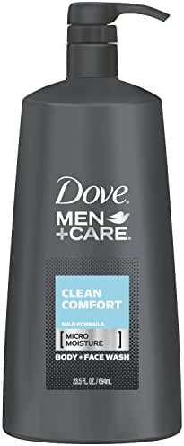 Dove Men+Care Body and Face Wash, Clean Comfort 23.5 oz Pump