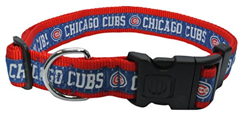 MLB CHICAGO CUBS Dog Collar, X-Large