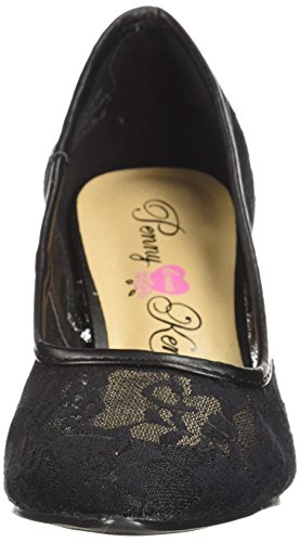 Penny Loves Kenny Womens Union Fl Pump Pizzo Nero