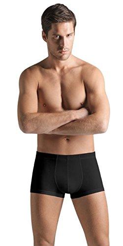 (HANRO Men's Superior Boxer Briefs, Black, Medium)