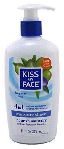 Kiss My Face Moisture Shave 11oz Fragrance Free 4-In-1 Pump (2 ()