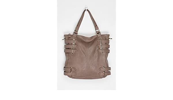 912dbca5656e Deena   Ozzy Buckle Tote - Grey - One Size  Handbags  Amazon.com