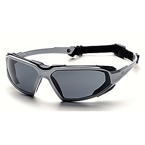 Pyramex Highlander Safety Eyewear, Silver-Black Frame/Gray Anti-Fog Lens