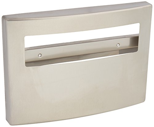 Bobrick 4221 Toilet Seat Cover Dispenser, 15 3/4 x 2 1/4 x 11 1/4, Satin Stainless Steel
