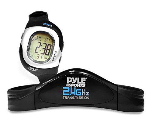 Smart Fitness Heart Rate Monitor - Digital Sports Wrist Watch Activity HR Tracker w/ 2.4GHz Chest Strap, EL Backlight, Alarm, SOS Mode, Used in Exercise or Running, For Men and Women - Pyle PSWHRL34