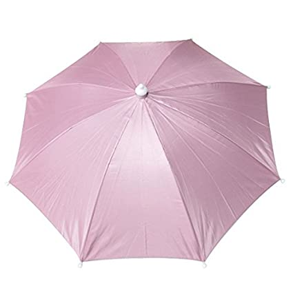 eDealMax rosa Headwear Nylon Paraguas Sombrero Para Golf Pesca que acampa de
