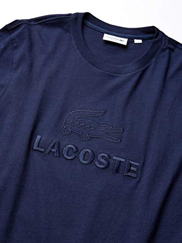 Lacoste Mens Short Sleeve Supple Jersey Graphic Animation T-Shirt