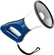Knox Megaphone Speaker – Mini Handheld PA Bullhorn - 4 Modes: Loud Microphone, Foghorn, Siren, Whistle – Light