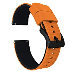 Image of the product 20mm Pumpkin Orange/Black that is listed on the catalogue brand of Barton Watch Bands.