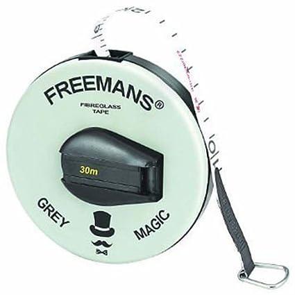 Crazen Freemans Fibra Fiber Glass Measuring Tape, 15m/50ft (Grey Magic, 12345)