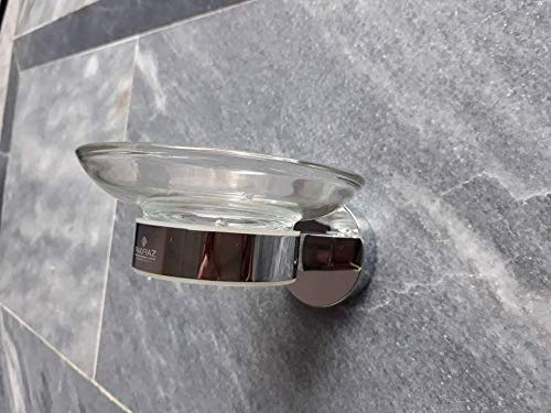 Pakfiaz Bathroom Accessories Brass Wall Mounted Stainless Steel Finishing Soap Holder, Soap Dish Holder Soap Dispenser for Bathroom and Kitchen Shower Steel Stainless Finishing