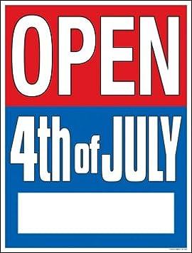 Amazon.com: Abierto cuarto (4ª) de julio Hour Señal de ...