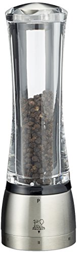 (Peugeot 25441 Daman U'Select Shaftless 8.25 Inch Pepper Mill, Stainless Steel)