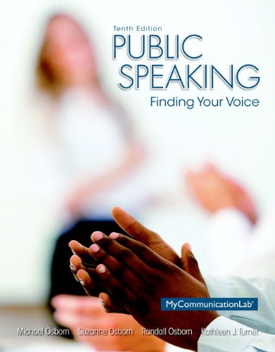 020593109X - Public Speaking: Finding Your Voice (10th Edition)