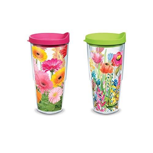 (Tervis Watercolor Wildflowers/Gerbera Daisies Tumblers (24 OZ Set of 2))