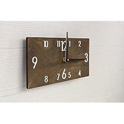 Wooden Wall Clock - Brown Wall Clock - Dark Brown Clock - Rectangular Wall Clock - Modern Wall Clock - Scandinavian Clock - Wall Decor