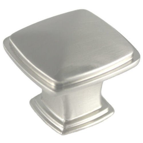25 Pack - Cosmas 4391SN Satin Nickel Modern Cabinet Hardware Knob - 1-1/4'' Inch Square