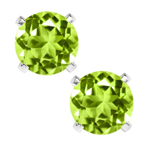 sterling silver stud gem earrings - 5