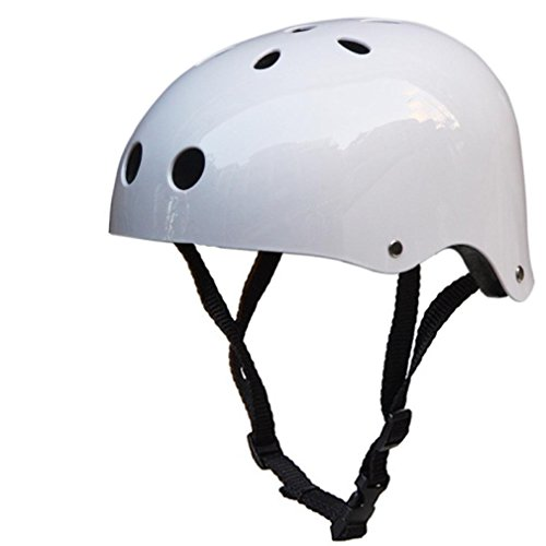 ZYooh Adult Helmet,Impact Resistance Safe Helmet with Ventilation for Multi-sports Cycling Skateboarding Scooter Roller Skate Inline Skating Rollerblading Longboard (white, L)