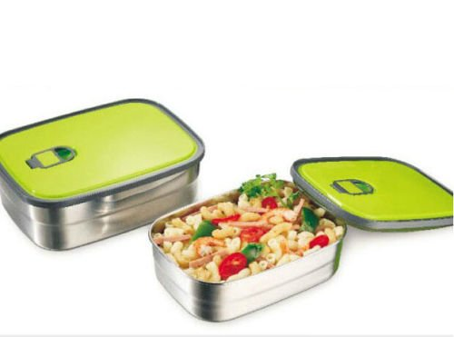 A Hot Stainless Steel Bento Lunch Box Storage Boxes Food Fruit Storage Bento Box (Nickelodeon Victorious Items)