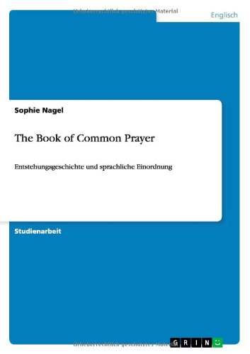 The Book of Common Prayer (German Edition) by GRIN Publishing