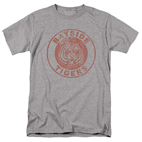 Saved by The Bell Bayside Tigers NBC T Shirt & Stickers (X-Large) Athletic Heather