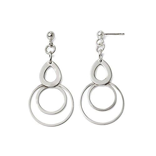 Dangle Post Earrings (Teardrop and Circle Post Dangle Earrings in Sterling Silver)
