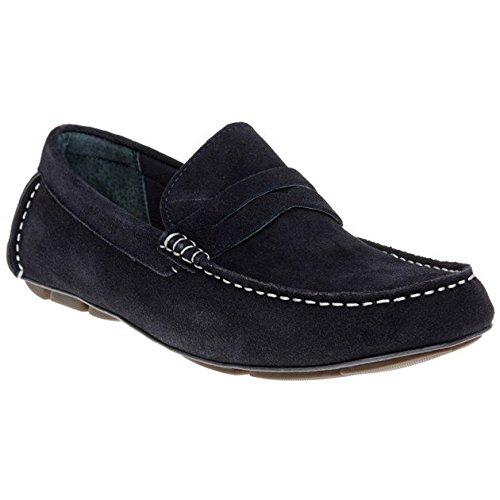 Front - Mocasines de ante para hombre azul azul, color azul, talla 42.5: Amazon.es: Zapatos y complementos