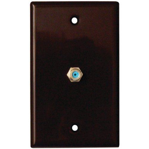 (DATACOMM ELECTRONICS 32-2024-BR Coax Wall Plate Brown by Datacomm Electronics)