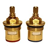BSP 3/4' 24 Spline Bath Tap Ceramic Cartridge Replacement Compatible with BRISTAN K22174B / K22174A