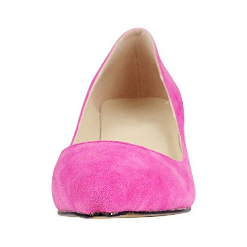 La De Zapatos Altura Mujer Tacón Tacon Clásico Wealsex Bajo 6cm Aguja Rose Del 8xIwYET