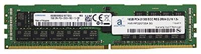 Adamanta 16GB (1x16GB) Server Memory Upgrade for Dell Poweredge, Precision & HP Proliant Servers Samsung Original DDR4 2666MHZ PC4-21300 ECC Registered Chip 2Rx4 CL19 1.2v DRAM RAM Adamanta