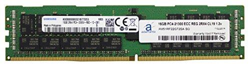 (Adamanta 16GB (1x16GB) Server Memory Upgrade for Dell Poweredge, Precision & HP Proliant Servers Samsung Original DDR4 2666MHZ PC4-21300 ECC Registered Chip 2Rx4 CL19 1.2v DRAM RAM Adamanta)