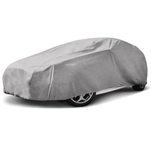 Budge Duro Hatchback Car Cover Fits Hatchbacks Cars up to 180 inches, DHB-2 - (Polypropylene, Gray) from Budge