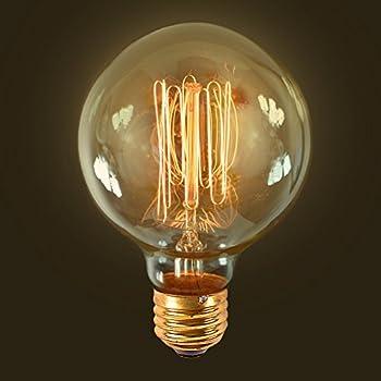edison light bulb round 60w base e26 bf46