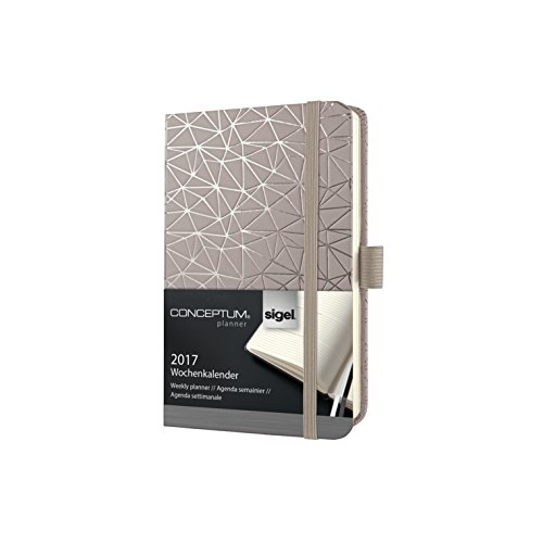 Sigel C1744 Wochenkalender 2017, ca. A6, Hardcover taupe, CONCEPTUM - weitere Designs