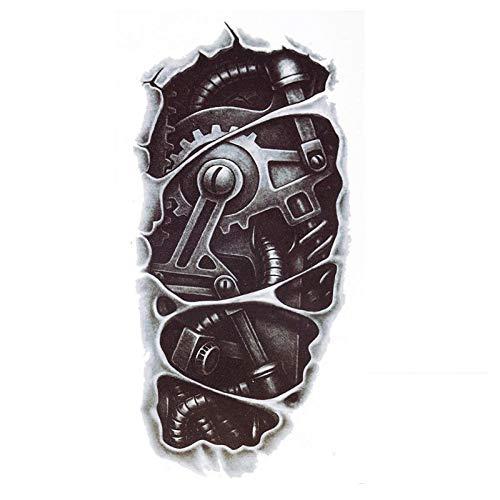 3D New Mans Half Sleeve Arm Temporary Totem Tattoo Stickers Body Art (Robot Arm)