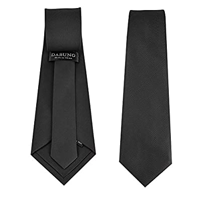 Dabung-Men's Necktie Solid Colors, Men Fashion Polyester Ties-57 x 3.5 in
