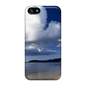 Iphone Cover Case - Clouds Over A Lone Beach Protective Case Compatibel With Iphone 5/5s