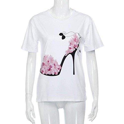 Femmes Blouse Lache Casual Chemise Plage Imprims Tops Talons Courtes Blouse Mlange Rose Chemisier Top Hauts Coton Covermason Manches Shirt T 5xFwvPBzn